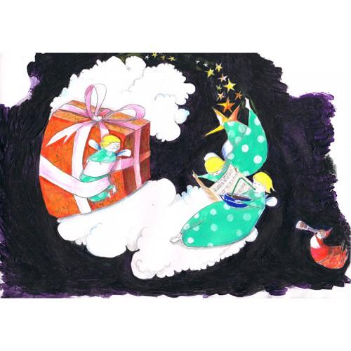 """Klappkarte """"Weihnachtsengel"""""""