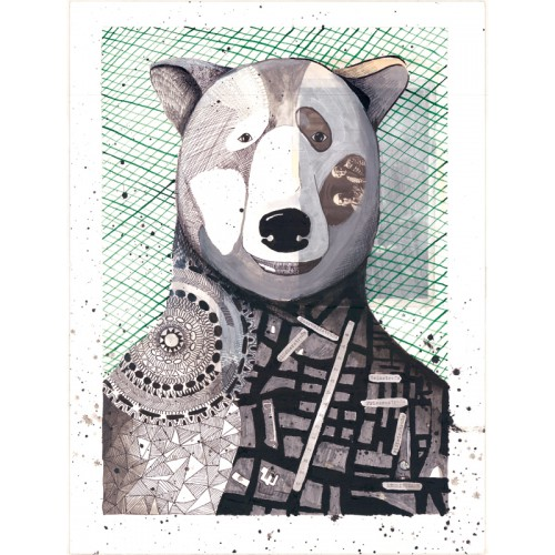 """Postkarte """"Bär"""""""