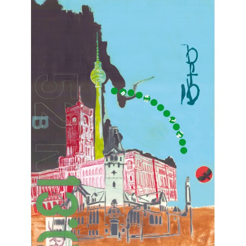 6er-Set verschieden illustrierte Postkarten