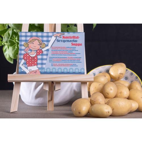 """Rezeptpostkarte """"Kartoffel-Gorgonzola-Suppe"""""""