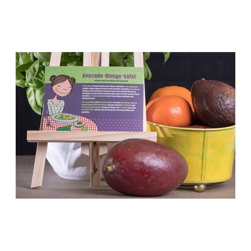 "Rezeptpostkarte ""Avocado-Mango-Salat"""