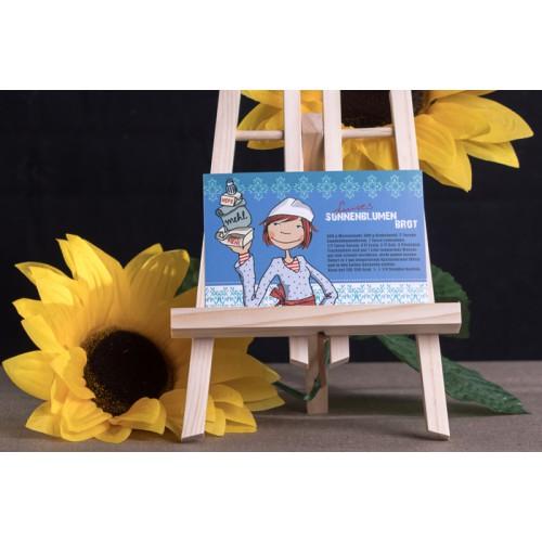 "Rezeptpostkarte ""Luises Sonnenblumenbrot"""