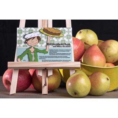 """Rezeptpostkarte """"Birnenkuchen mit Nuss-Streusel"""""""