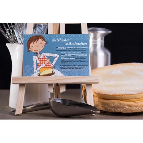 "Rezeptpostkarte ""weltbester Käsekuchen"""