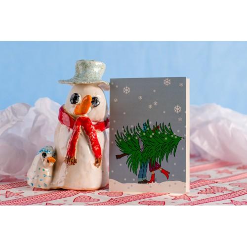 """Klappkarte """"Weihnachtsbaum"""" Hochkant"""