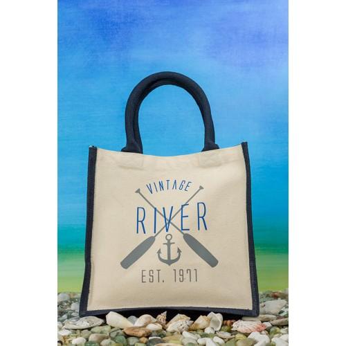 """Einkaufstasche Midi Jute Bag """"Vintage River"""""""