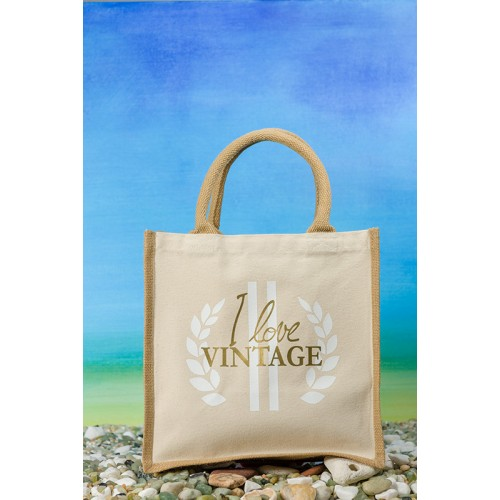 """Einkaufstasche Midi Jute Bag """"I love Vintage"""""""