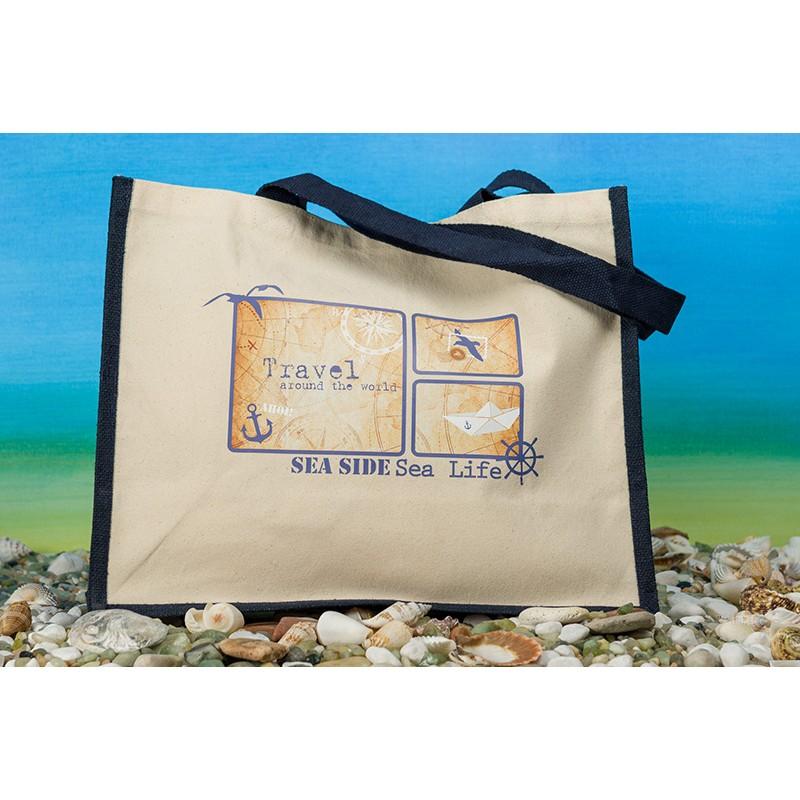 """Einkaufstasche Classic Jute Bag """"Travel"""""""