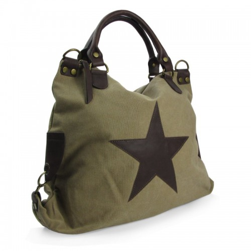 "Canvas XXL Handtasche/Shopper ""Stern"""